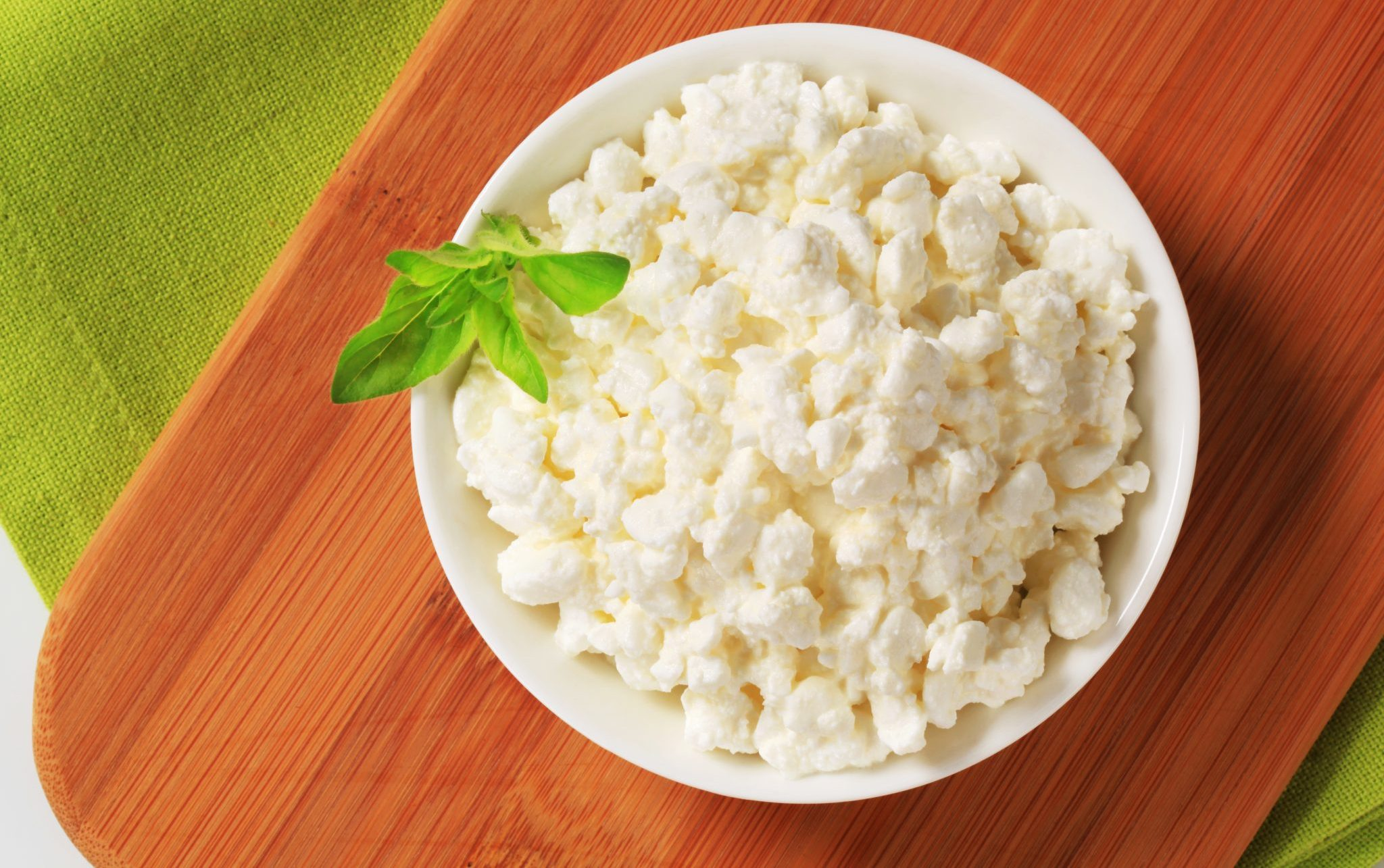 cottage cheese with mint