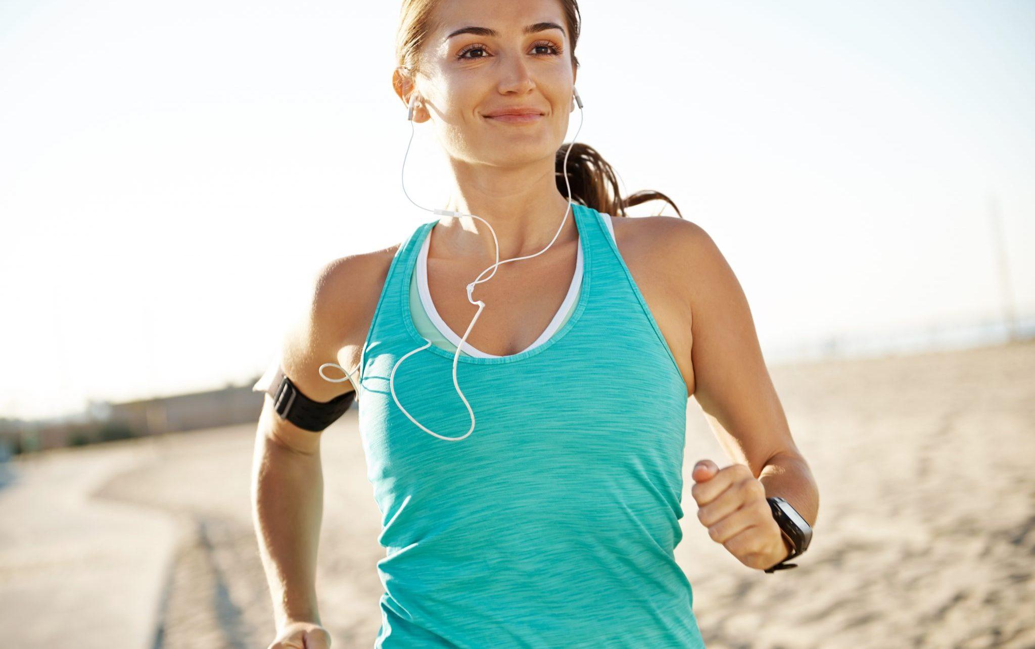 girl running forward