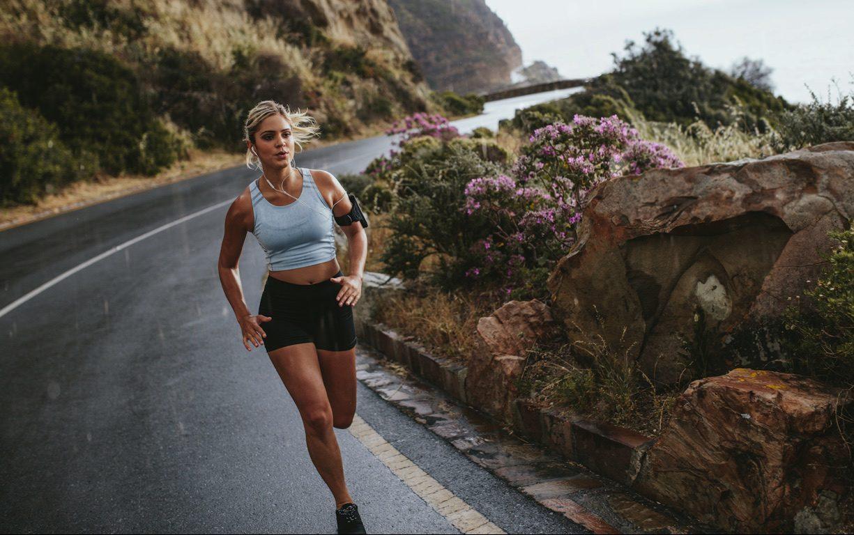girl running hungover