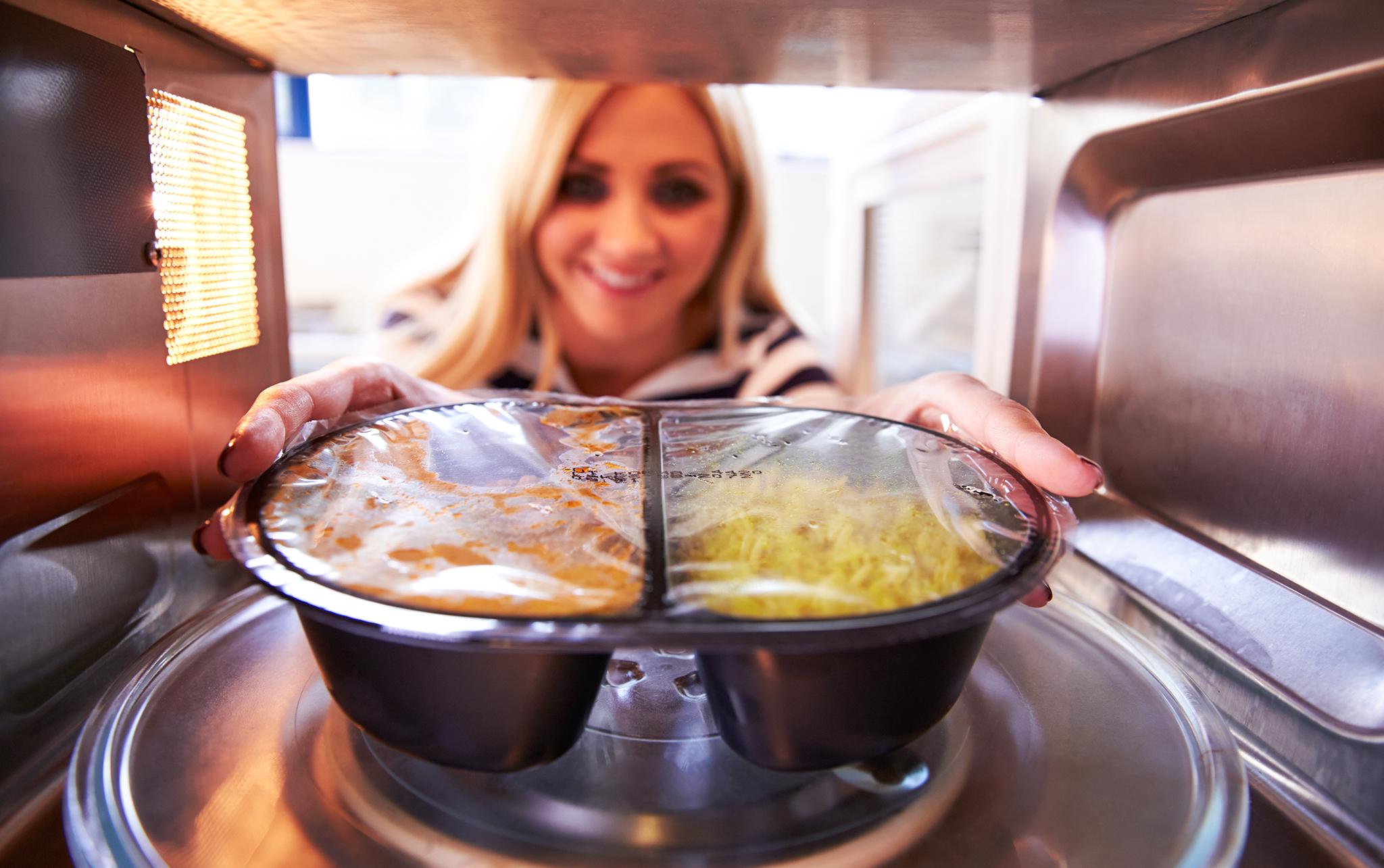 microwaving food