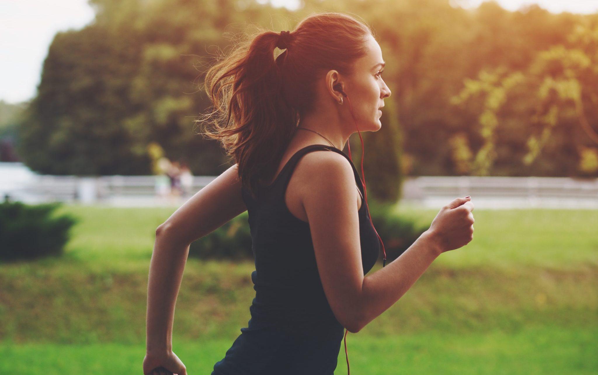 runner at dusk