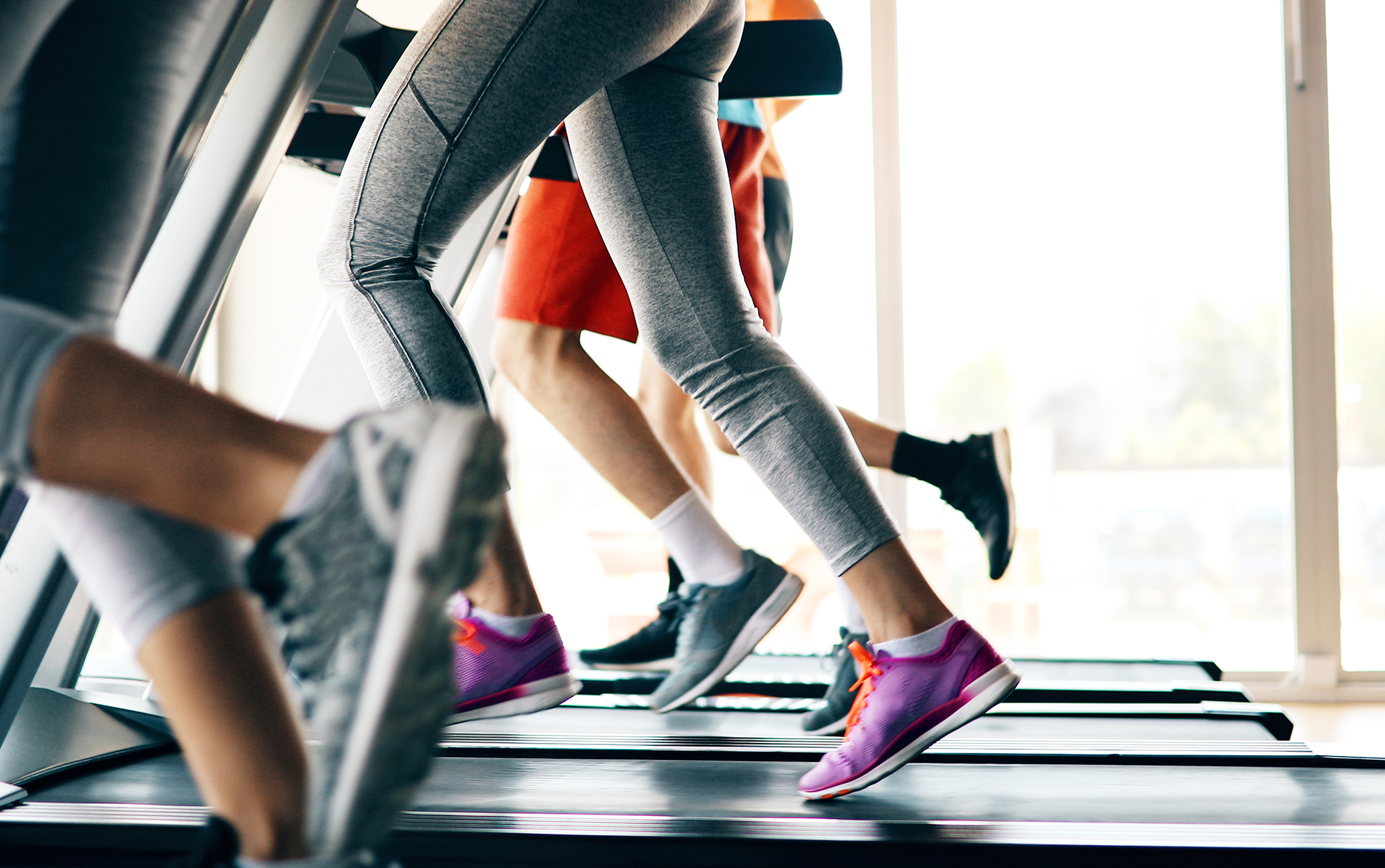 legs on treadmill