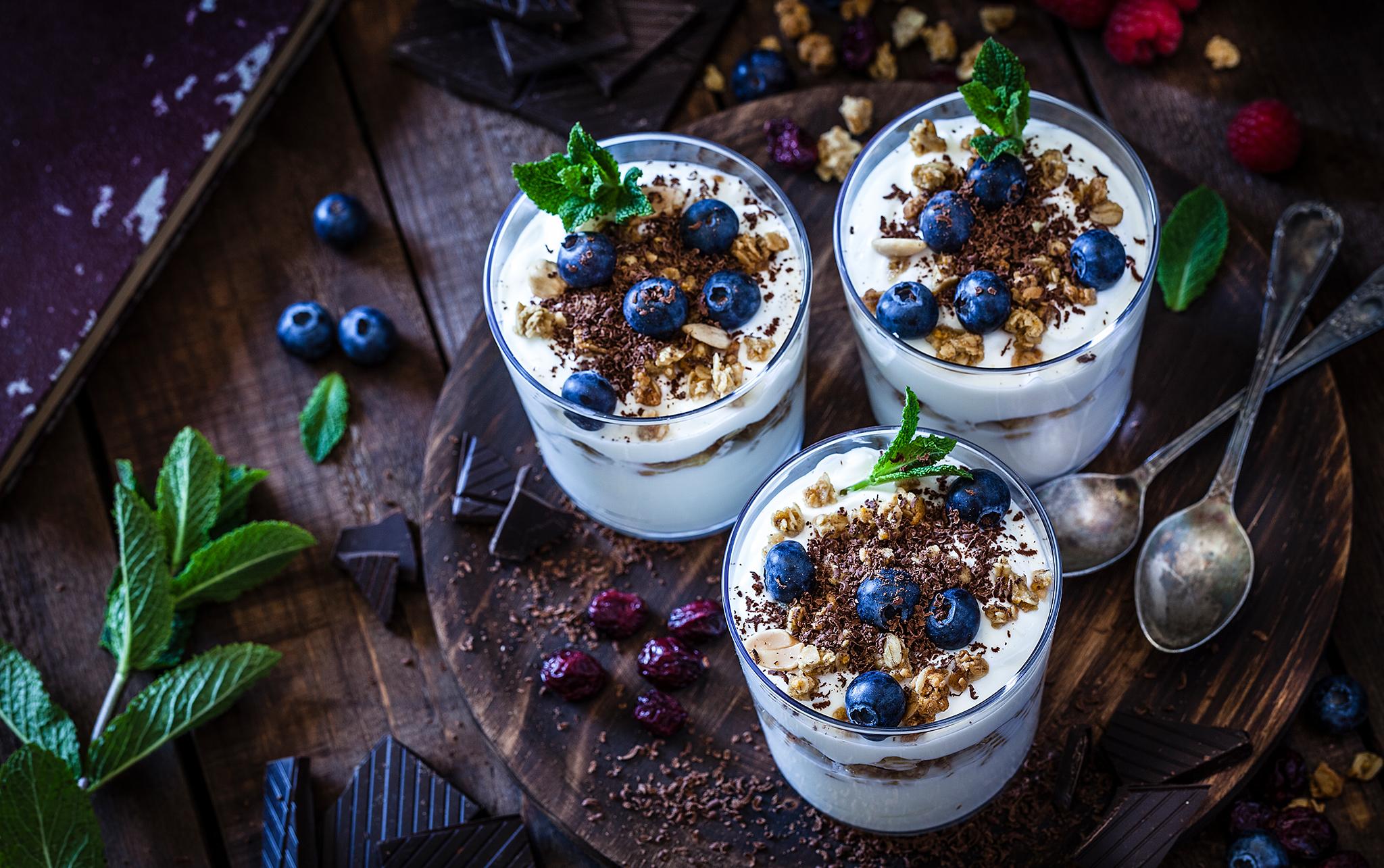 Yogurts and toppings
