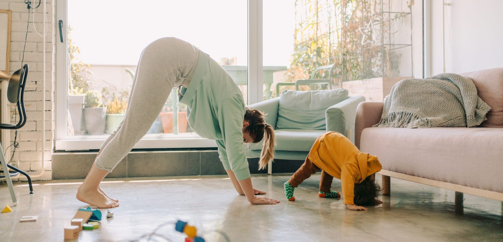 19 Stress-Free Workouts to Do With Your Kids at Home