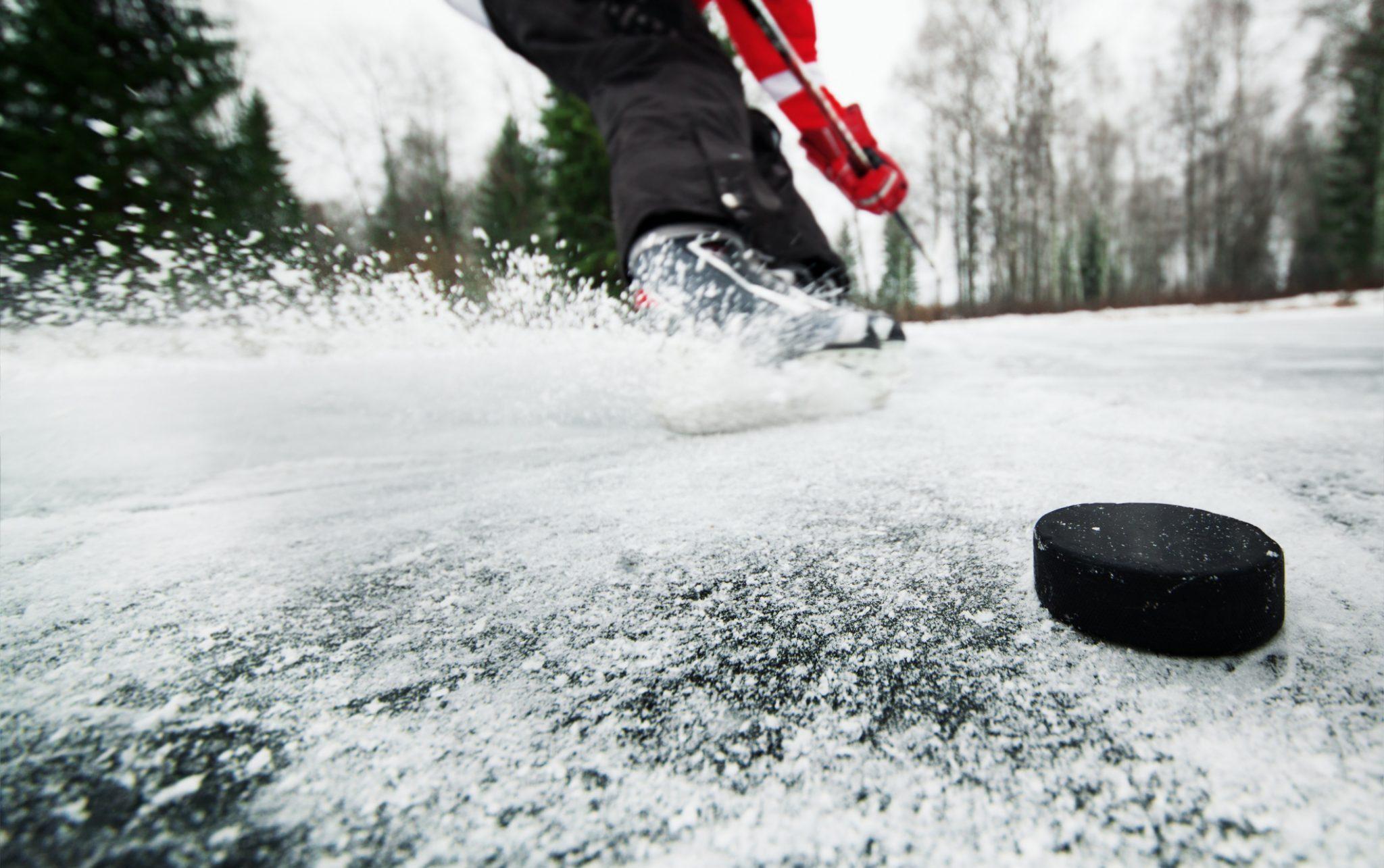 endurance athletes pandemic hockey puck and stick